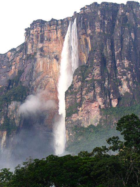 Hvad hedder verdens højeste vandfald? angel falls